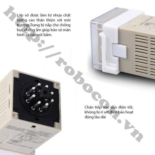đặc điểm Bộ Relay Timer Omron DH48S-S 220V 5A, Công Tắc Hẹn Giờ Bật Tắt Tự Động