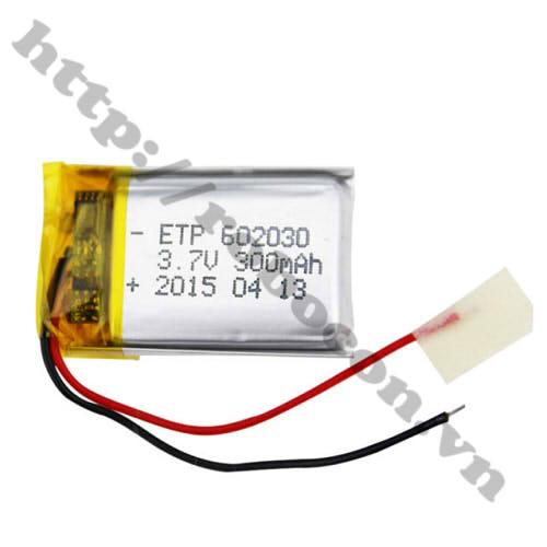 PPKP47 Pin Sạc Lithium 602030 3.7V - 300mAh