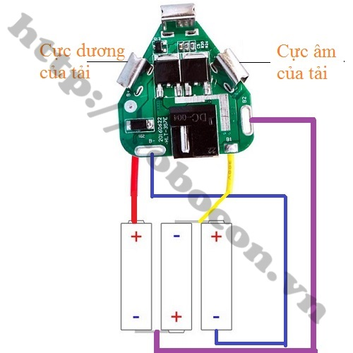 Sơ đồ Mạch Sạc Và Bảo Vệ Pin 3S 12V Chế Pin Máy Khoan