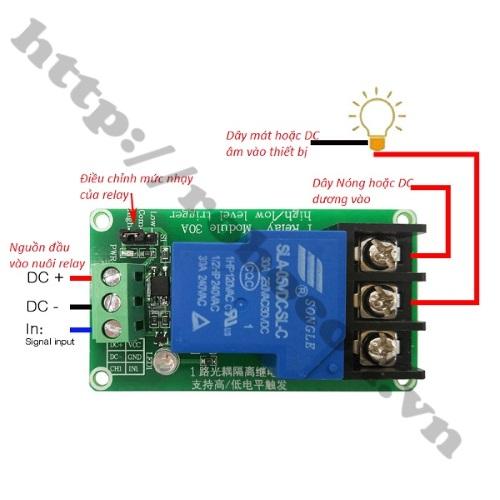 MDL207 Module Relay 1 Kênh 5V- 30VDC/250VDC-30A