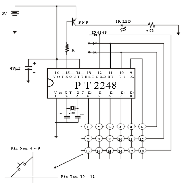 Sơ đồ kết nối IC PT2248
