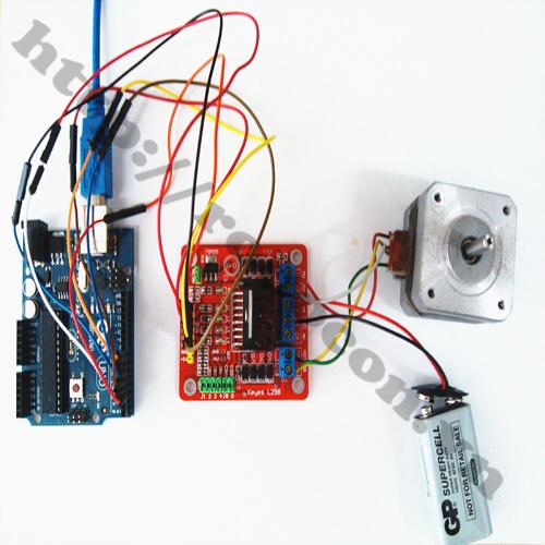 CBM24 Bộ Combo Điều Khiển Động Cơ Bước Dùng Module L298 Và Arduino