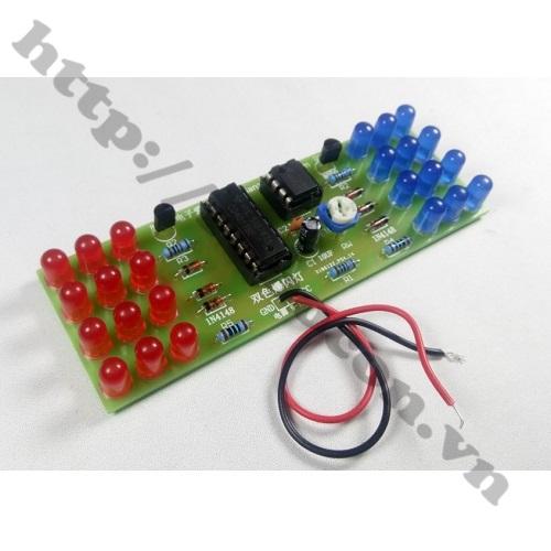 MDL205 PCB Mạch LED Nháy 2 Màu CS Sử Dụng CD4017+ NE555 Tự Ráp
