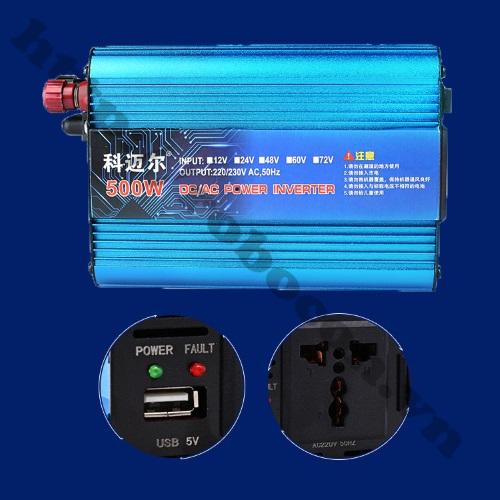 PKK460 Bộ Chuyển Đổi Điện Inverter 12V DC Lên 220V-500W