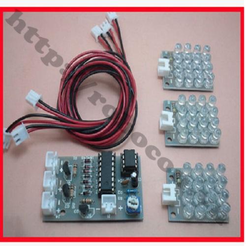 MDL206 PCB Mạch LED Nháy 3 Màu CS Sử Dụng CD4017+ NE555 Tự Ráp