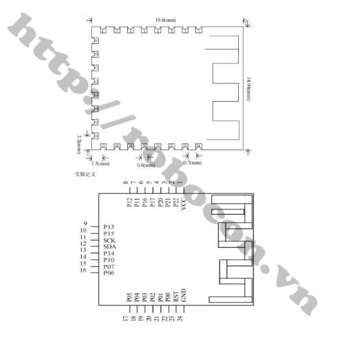 Module Bluetooth 4.0 JDY-08 CC2541- Module Truyền Thông