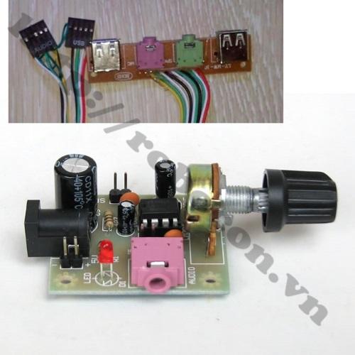 Audio Jack 3.5-5P sử dụng trong mạch âm thanh