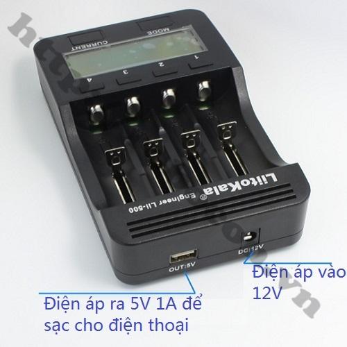 PPKP83 Bộ Sạc Pin Đa Năng Liitokala LII-500 Sạc 4 Pin 26650-18650-14500-16340 Loại Xịn