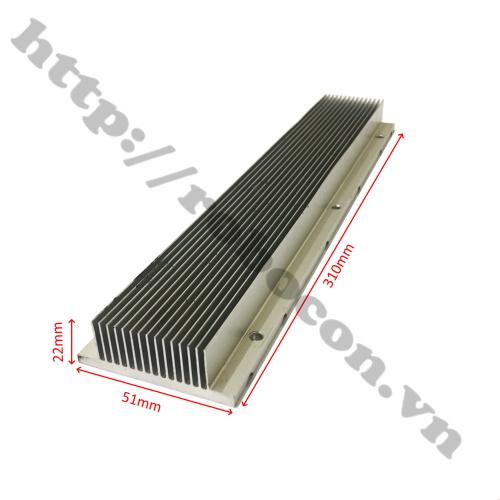 Tản nhiệt nhôm 15 cánh 310x61x22mm