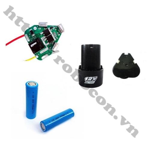 Bộ Combo Chế Pin 3S 11.1-12.6V Cho Máy Khoan Hitachi, Bosch, Makita