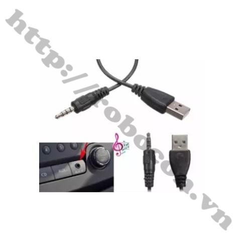 PKAT65 Dây cáp chuyển đổi USB sang đầu đực  Audio 3.5mm 4 kênh