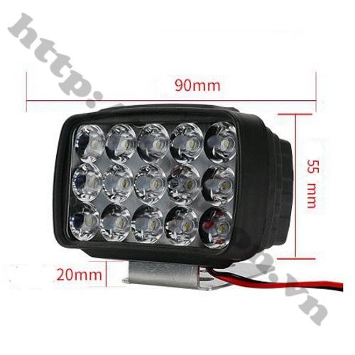 LED143 Đèn Pha Led L6 30W 15 Led Lắp Cho Xe Máy, Xe Đạp Điện