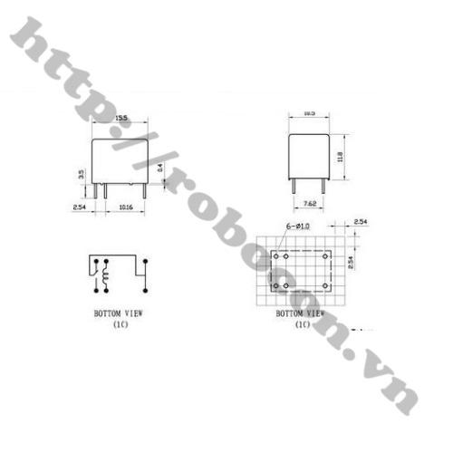 RE26 Relay HK4100F DC 24V SHG