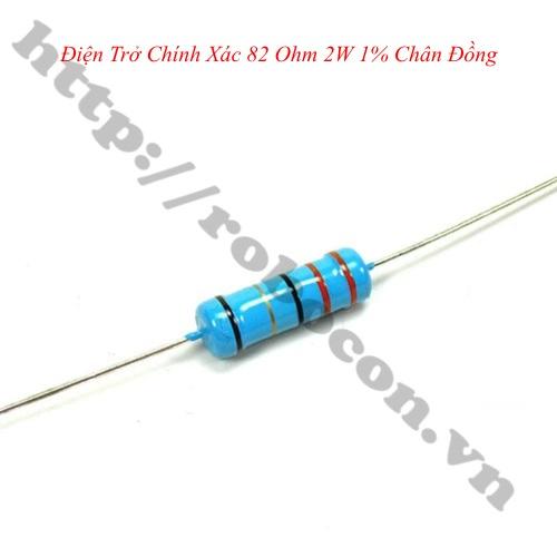DT271 Điện Trở Chính Xác 82 Ohm 2W 1% Chân Đồng