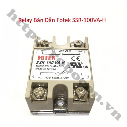 Relay Bán Dẫn Fotek SSR-100VA-H