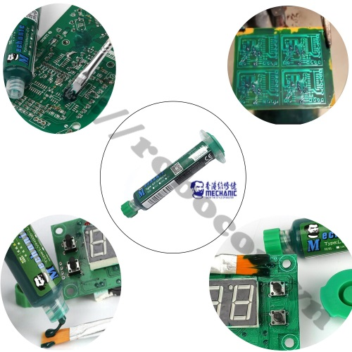Ứng Dụng Nhựa Phủ Mạch UV Mechanic 10cc Màu Xanh Lá