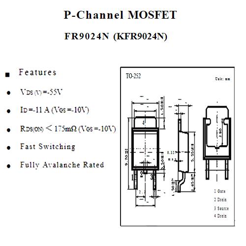 MO18 MOSFET KFR9024N