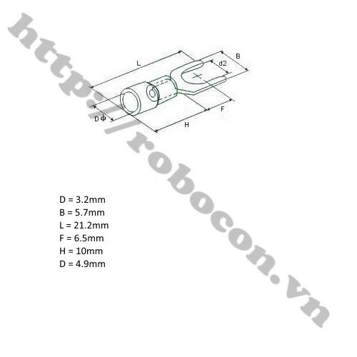 Đầu Cos Chữ Y – Đầu Cos Càng Cua SV 2-3 (1 Cặp)