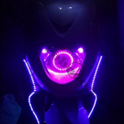 LED132 Dây Led Dán Xe Máy, Ô tô Màu Hồng Nháy Đuổi 12V-50CM