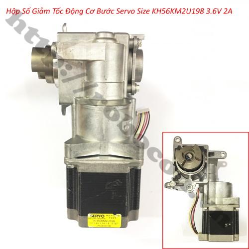 Hộp Số Giảm Tốc Động Cơ Bước Servo Size KH56KM2U198 3.6V 2A