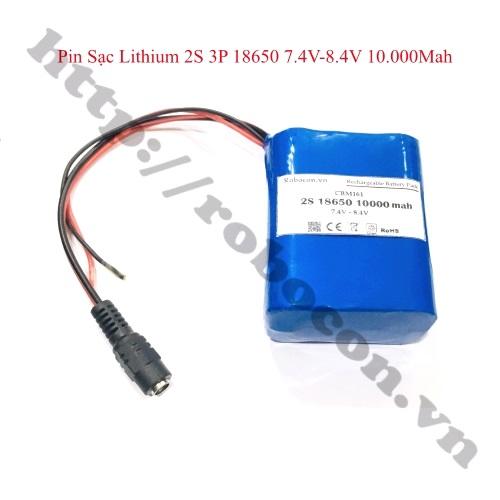 CBM161 PIN SẠC LITHIUM 2S 3P 18650 7.4V-8.4V 10.000MAH