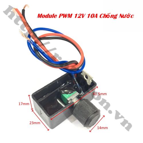 MDL337 module điều khiển tốc độ động cơ chống nước PWM 12V