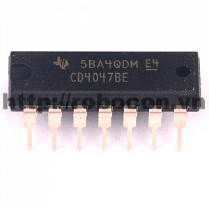 IC83 CD4047BE DIP14 (Chân Cắm)