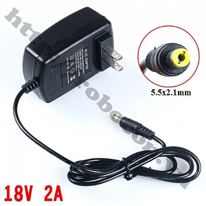 NG42 Adapter 18V 2A Jack 5.5x2.1mm
