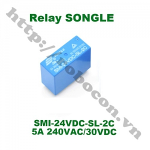 RE40 RELAY SONGLE 8 CHÂN SMI-24VDC-SL-2C 24V 5A